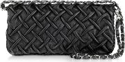 Fontanelli Handbags, Pleated Nappa Leather Clutch