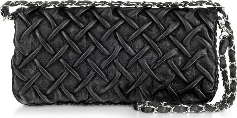 Fontanelli Handbags Pleated Na Leather Clutch