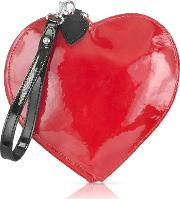Patent Leather Heart Coin Purse