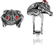 Forzieri Exclusives Cufflinks, Sterling Silver And Cornelian Frog Cufflinks