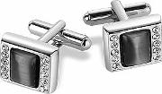 Anthracite Silver Plated Cufflinks
