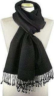 Black Pashmina & Silk Shawl