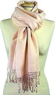 Pale Pink Pashmina And Silk Scarf