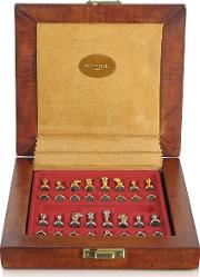 Forzieri Small Leather Goods, Genuine Leather Chess Board With Magnetic Pieces