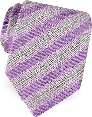 Forzieri Ties, Gold Line Pin Striped Diagonal Lines Woven Silk Tie