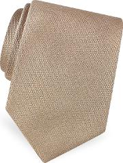 Gold Line Solid Woven Silk Tie