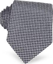 Geometric Two Tone Woven Silk Tie