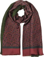 Modal & Silk Mini Paisley Print Men's Fringed Scarf