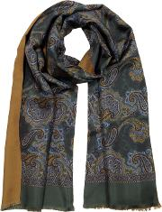 Paisley Print Men's Fringed Scarf