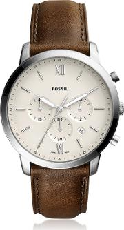 Neutra Chronograph Brown Leather Men's Watch