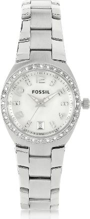Stainless Steel & Crystals Women's Bracelet Watch