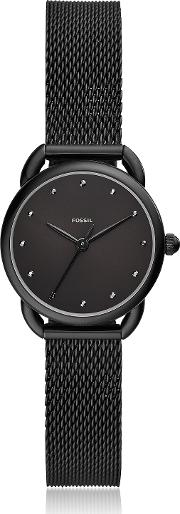 Tailor Three Hand Black Stainless Steel Mesh Watch