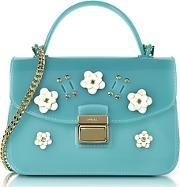 candy lilla turquoise jelly rubber mini bag