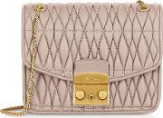 Quilted Nappa Leather Metropolis Cometa S Crossbody Wchain Strap