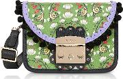 Toni Smeraldo Strawberry Printed Satin Metropolis Serenissima Mini Crossbody Bag