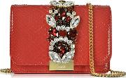 Clicky Red Python Clutch Wcrystals