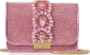 Cliky Light Rose Crystals Clutch