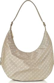 Clay Signature Fabric And Leather Softy Shoulder Bag