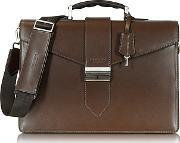 1919 - New Class Leather Briefcase Wshoulder Strap