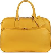1919 - Travel Yellow Leather Double Handle Carry-on