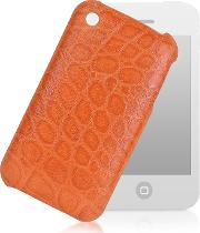 Giorgio Fedon 1919 Small Leather Goods, Croco Stamped Leather Iphone 3 Case