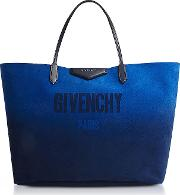 Gradient Blue And Silver Reversible Tote Bag