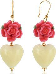 Heart Murano Glass Drop Earrings