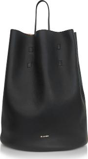 Open Miscellaneous Leather Bucket Bag