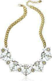 Crystal And Golden Metal Necklace