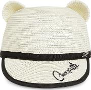 Choupette Natural Straw Ears Cap