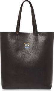 Cut Out Leather Tote Bag
