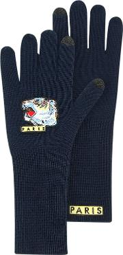 Iconic Tiger Long Wool Gloves