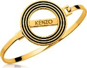 Goldtone Reversible Logo Bangle Bracelet