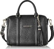 Mademoiselle Ana Grained Leather Small Duffle Bag