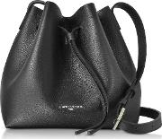 Pur & Element Foulonne Black Leather Bucket Bag