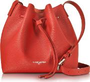 Pur & Element Saffiano Leather Bucket Bag