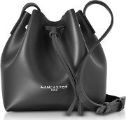 Pur & Element Smooth Leather Mini Bucket Bag