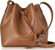 Pur & Element Smooth Leather Small Bucket Bag