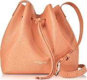 Pur Saffiano Leather Bucket Bag