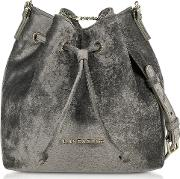 Velvet Small Bucket Bag