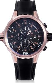 Space Shuttle Rose Gold Pvd Stainless Steel Chronograph Watch