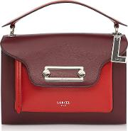 Clic Cassisred Leather Large Crossbody Bag