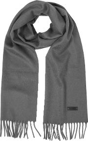 Pure Cashmere Long Scarf Wfringes