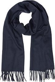 Solid Pure Cashmere Men's Long Scarf
