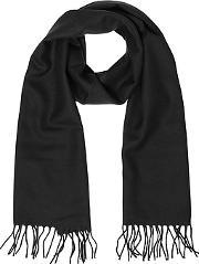 Solid Wool Fringed Men's Scarf