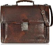 Cristoforo Colombo Collection Leather Briefcase