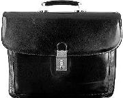 Classic Black Leather Briefcase