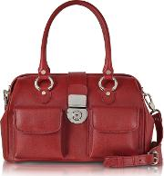 Front Pocket Calf Leather Doctor Style Handbag
