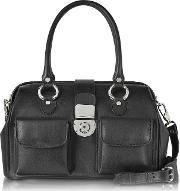 L.a.p.a. Handbags, Front Pocket Calf Leather Doctor Style Handbag