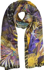 Floral And Nature Print Silk Stole